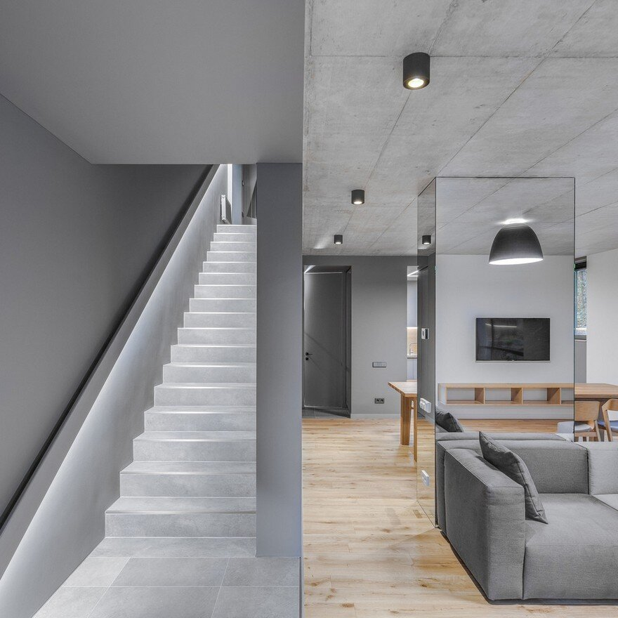 Monochromatic House In Vilnius The Greywall