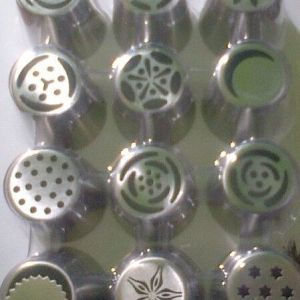 12PC STAINLESS STEEL RUSSIAN NOZZLES SET CARDED
