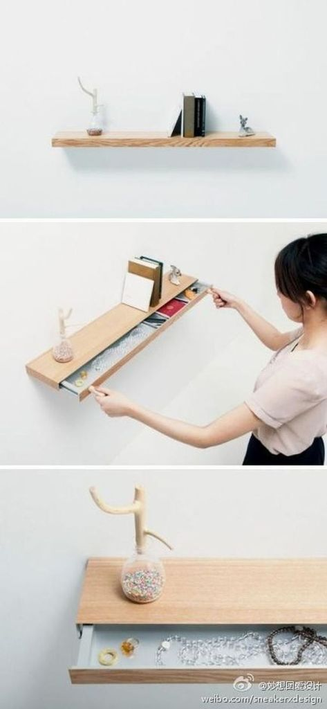 Cool hidden and pull out shelf storage ideas 8 (source pinterest.com)