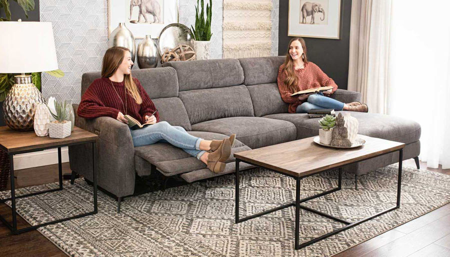 reclining sectionals living room