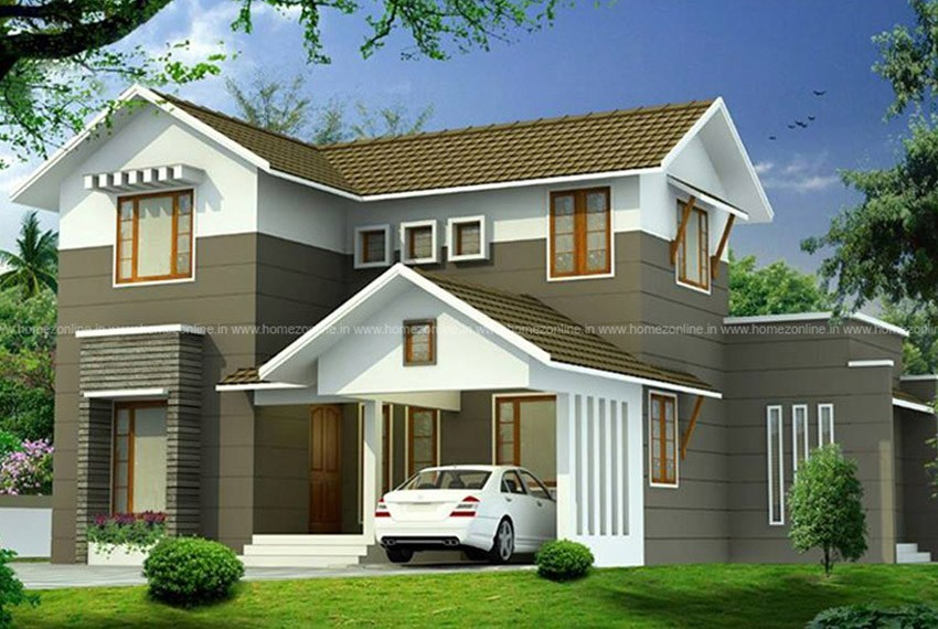 30+ Modern sloping roof designs collection   Sloping roof ...