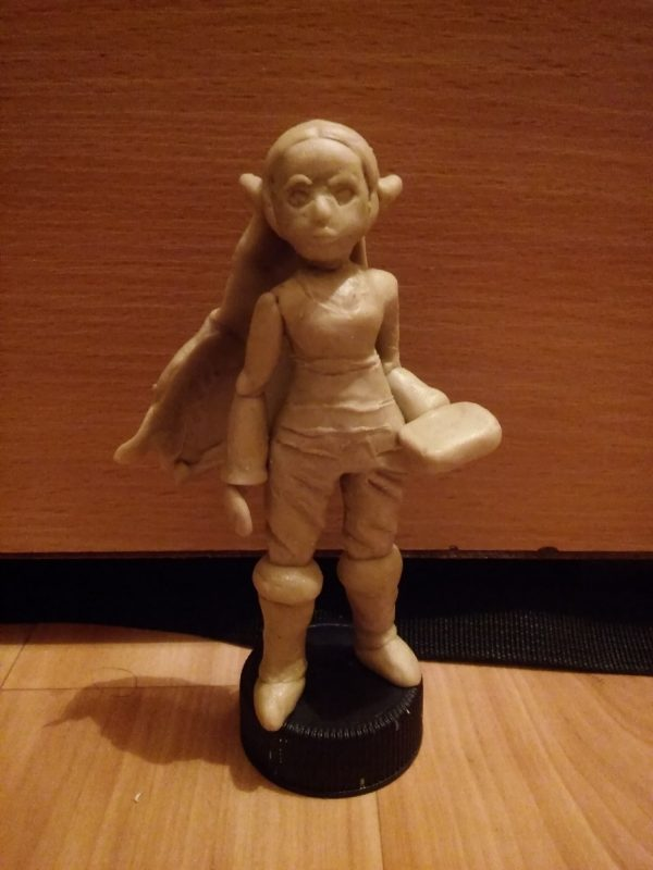 Trying out oil based clay (BotW Zelda) : Sculpture