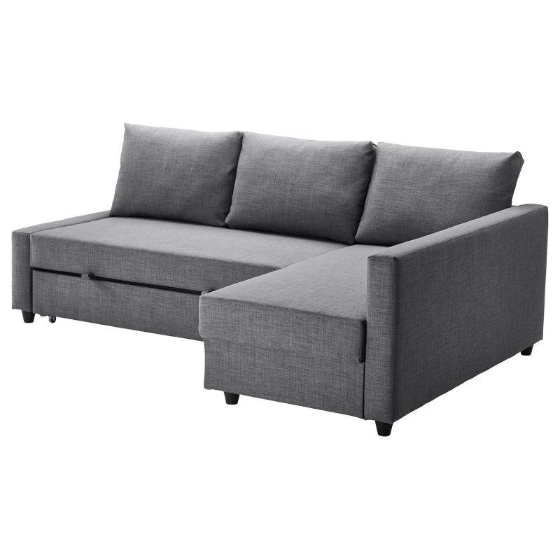 FRIHETEN Sleeper sectional,3 seat w/storage, Skiftebo dark gray - IKEA