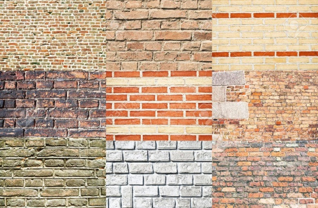 Set Of Various Types Of Brick Walls Stock Photo, Picture And Royalty Free Image. Image 12064276.