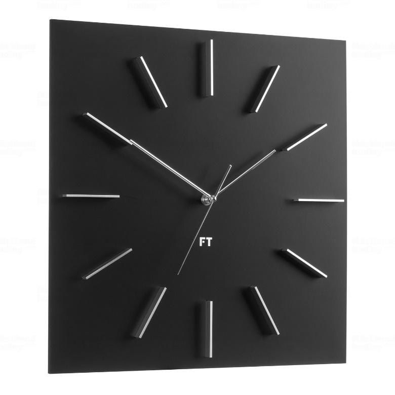 Wall Clock Future Time FT1010BK Square black 40cm - Future-Time.eu