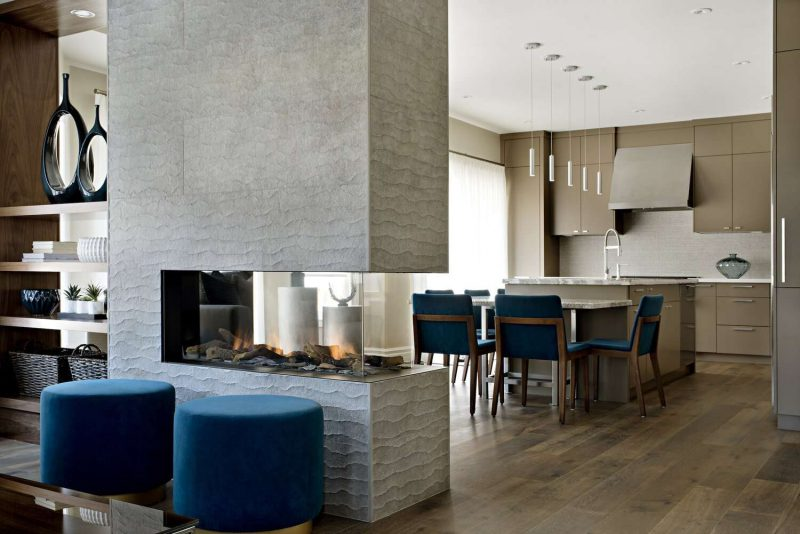 Double-Sided Fireplaces to Make Your Home Modern and Cozy