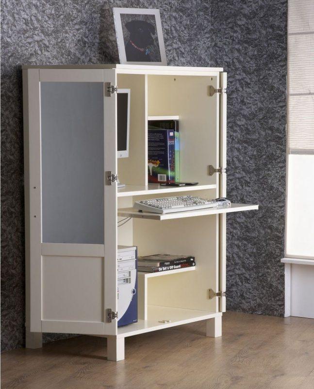 17 Interesting Hideaway Computer Desk Pic Ideas | Hideaway computer desk, Small computer desk, Home office furniture