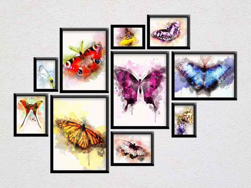 Butterfly Poster set, Butterfly themed art, Butterfly painting, classroom decor, Watercolor painting, kids room, wall art, home décor - Modern Digital Home