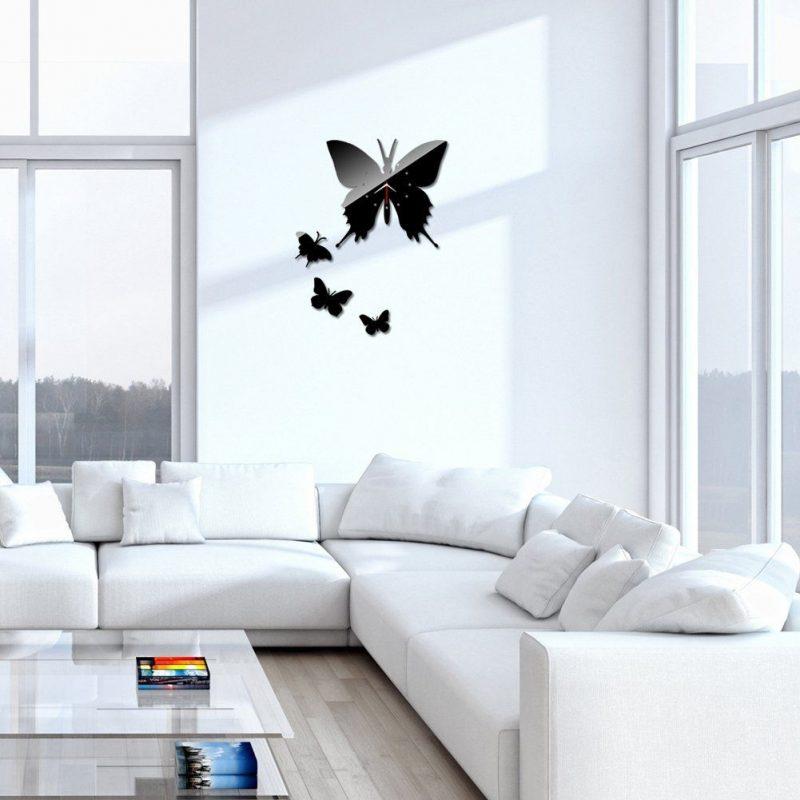 Chinatera New Modern Design DIY Wall Clock Home Decor Sticker Art Butterfly Decals (Black) >>> Tried it! Love it! Click the im…   Diy clock wall, Home diy, Diy wall