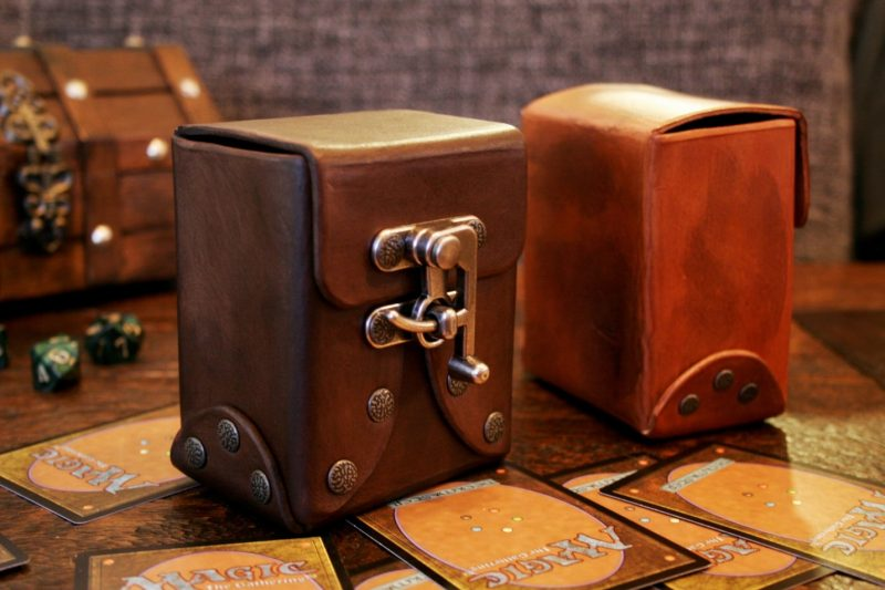 Deck box for cards - Patterns and Templates - Leatherworker.net