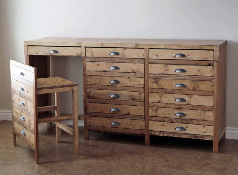 Hidden Desk Apothecary Cabinet | Ana White