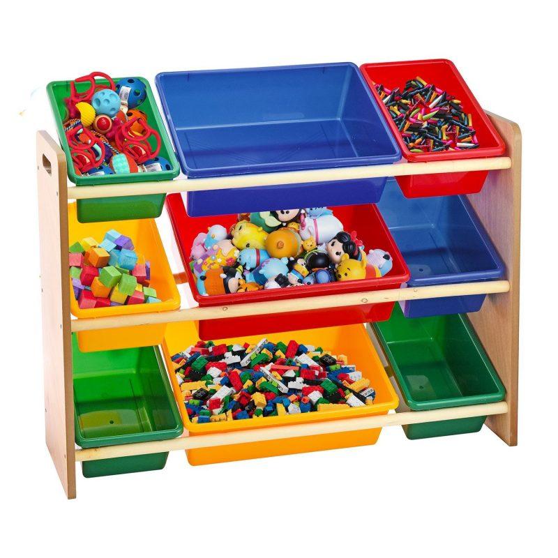 Kids Children Toys Storage Rack Bookshelf Playroom Plastic Boxes Toys  Organizer   eBay