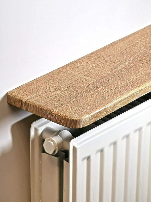 light Oak laminated Radiator Shelf (24x6 inc) 600x150x18mm: Amazon.co.uk:  Kitchen & Home
