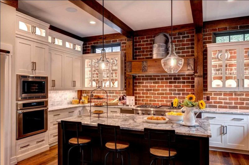 Only Furniture: Innovative Red Brick Wall Kitchen 17 Beautiful Kitchen Backsplash  Ideas To Welcome 2019 Brick Kitchen Red Innovative Wall | Home Furniture