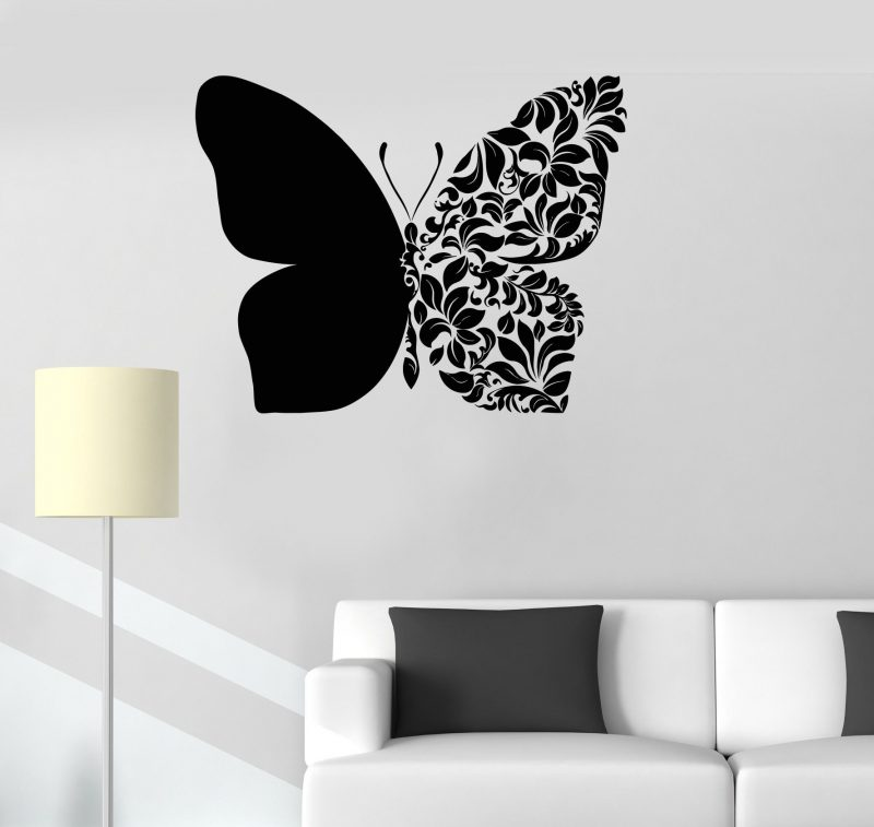 Vinyl Wall Decal Beautiful Butterfly Art Room Decoration House Decor Stickers Unique Gift (ig3231)   Simple wall paintings, Creative wall painting, Wall painting decor
