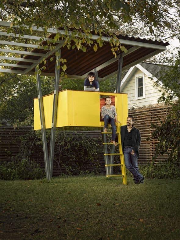 Play house backyard landscaping ideas