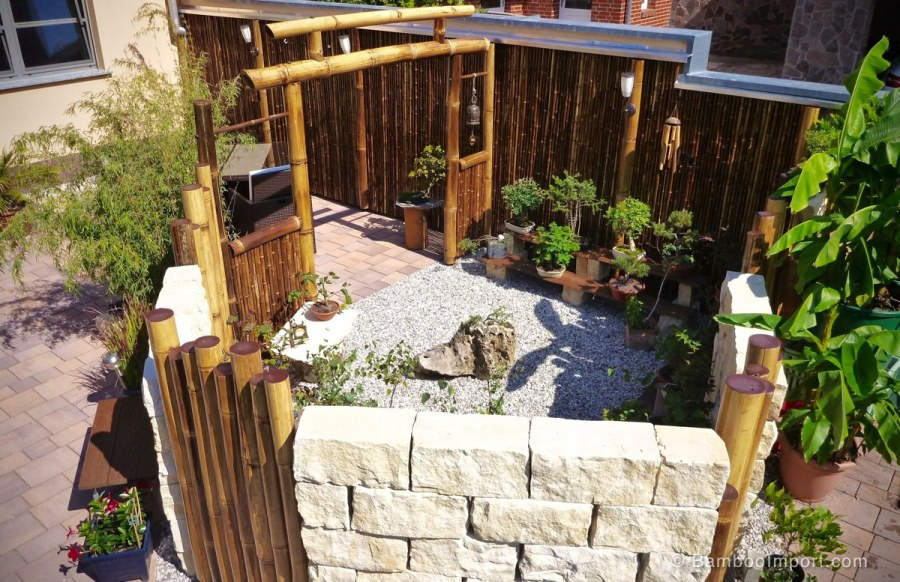 Black Bamboo Fencing
