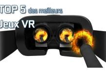 Top 5 jeux VR