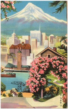 Portland Postcard from 30s or 40s by Boston Public Library