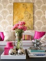 Amazing Painting Wallpaper On Livingroom 03