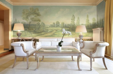 Amazing Painting Wallpaper On Livingroom 07