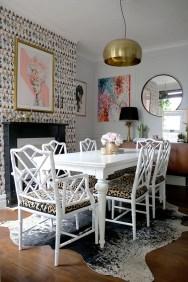 Amazing Painting Wallpaper On Livingroom 10