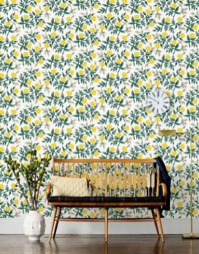 Amazing Painting Wallpaper On Livingroom 18