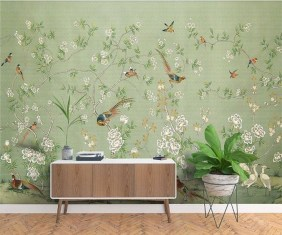 Amazing Painting Wallpaper On Livingroom 20
