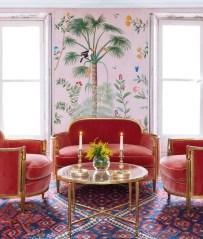 Amazing Painting Wallpaper On Livingroom 26