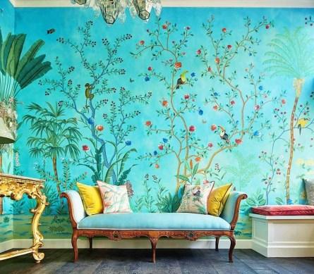 Amazing Painting Wallpaper On Livingroom 33