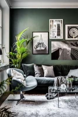 Cozy Green Livingroom Ideas 17