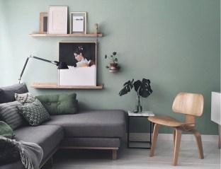 Cozy Green Livingroom Ideas 30