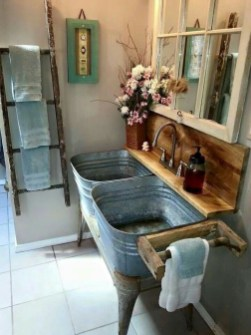 Awesome Country Mirror Bathroom Decor Ideas 08