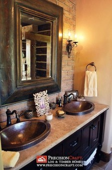 Awesome Country Mirror Bathroom Decor Ideas 14