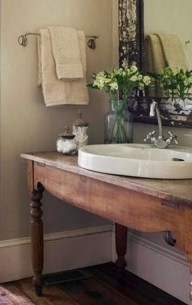 Awesome Country Mirror Bathroom Decor Ideas 19