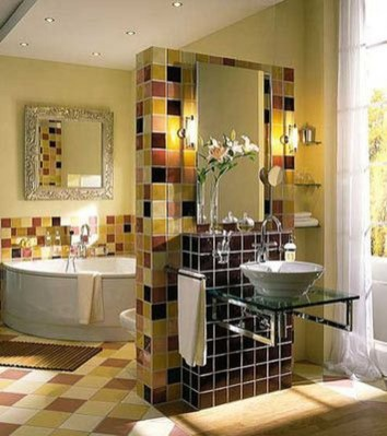 Awesome Country Mirror Bathroom Decor Ideas 23