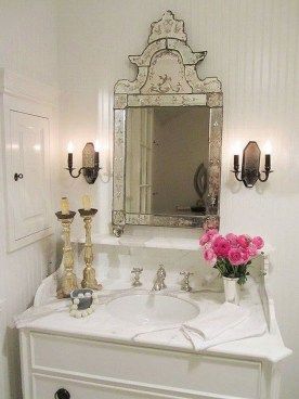 Awesome Country Mirror Bathroom Decor Ideas 30