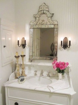Awesome Country Mirror Bathroom Decor Ideas 30