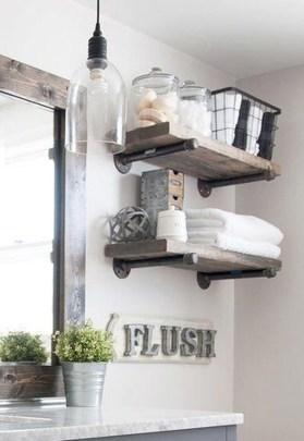 Awesome Country Mirror Bathroom Decor Ideas 39