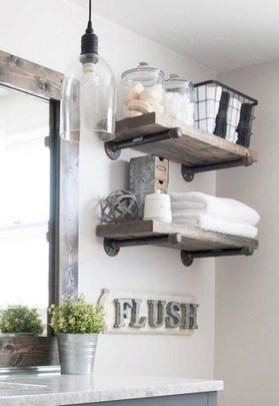 Awesome Country Mirror Bathroom Decor Ideas 39