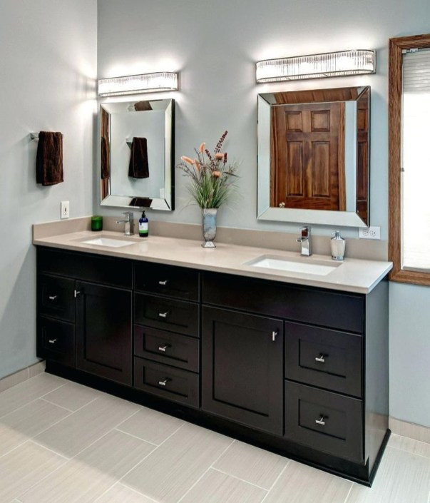 Awesome Country Mirror Bathroom Decor Ideas 48