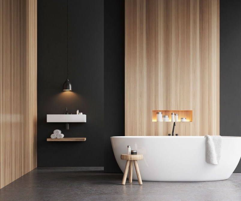 Cozy Wooden Bathroom Designs Ideas 15