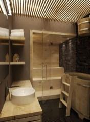 Cozy Wooden Bathroom Designs Ideas 27