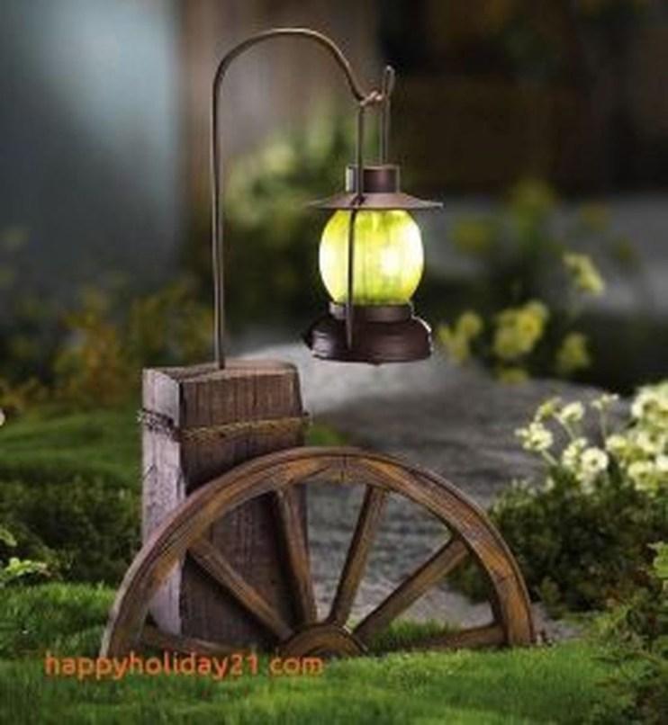 Fantastic Rustic Garden Light Landscaping Ideas 04