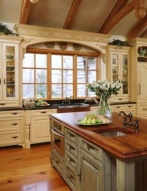 Gorgeous Rustic Country Style Kitchen Made By Wood 17