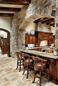 Gorgeous Rustic Country Style Kitchen Made By Wood 28