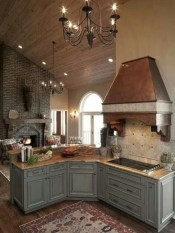Gorgeous Rustic Country Style Kitchen Made By Wood 36