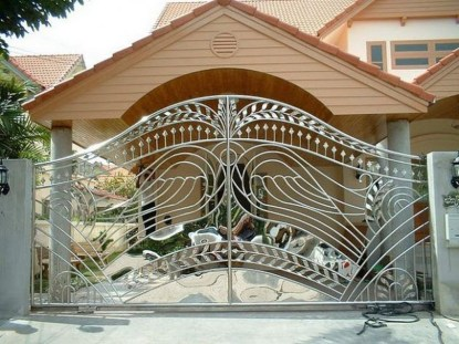 Inspiring Modern Home Gates Design Ideas 18