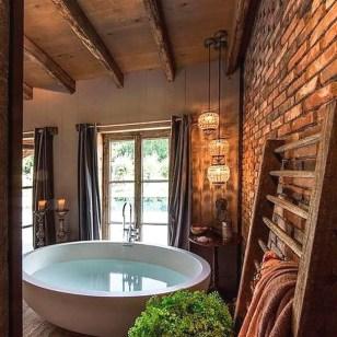 Inspiring Rustic Small Bathroom Wood Decor Design 01