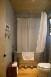 Inspiring Rustic Small Bathroom Wood Decor Design 05